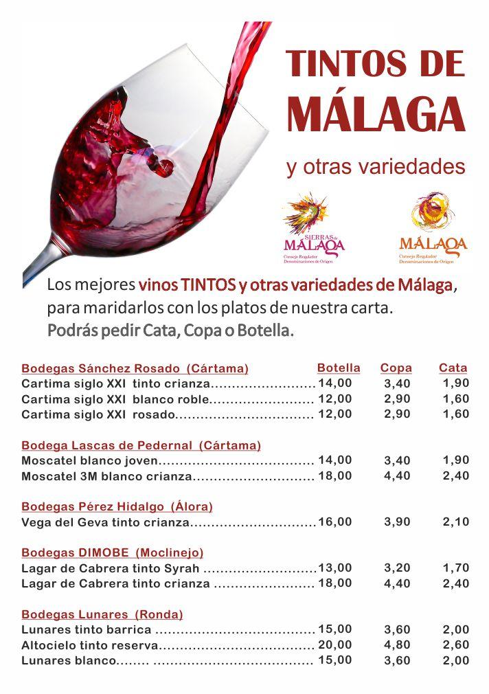 Carta Vinos Málaga 1