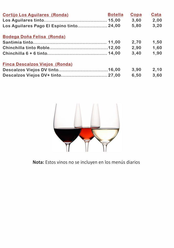 Carta Vinos Málaga 2