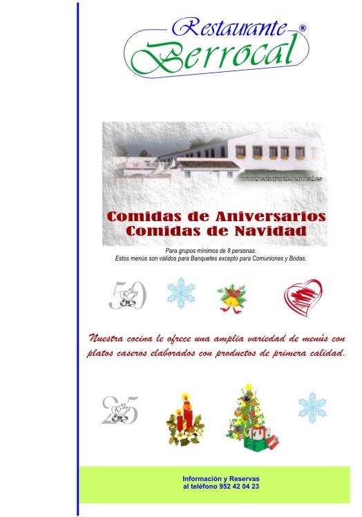 Menu Aniversario y Navidad